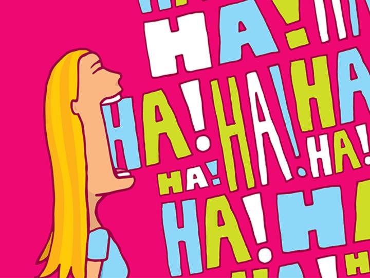 ハハハと笑う女性
