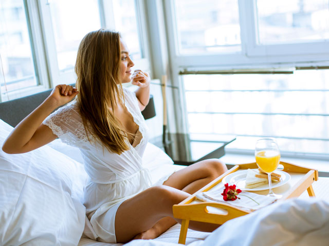 朝食のタイミング