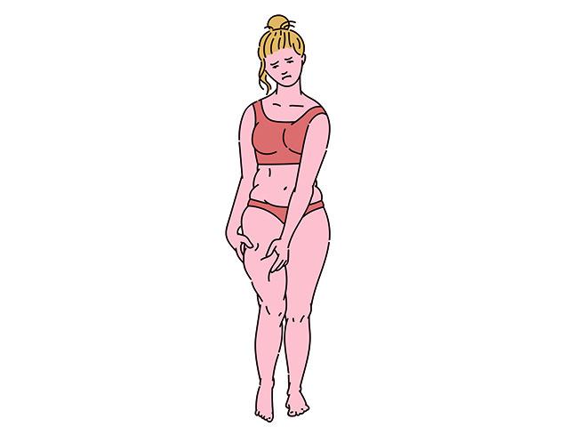 太ももが太い女性