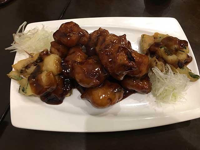 セロリの酢豚
