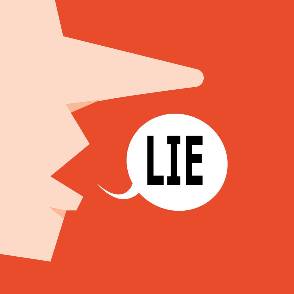 嘘をつく人