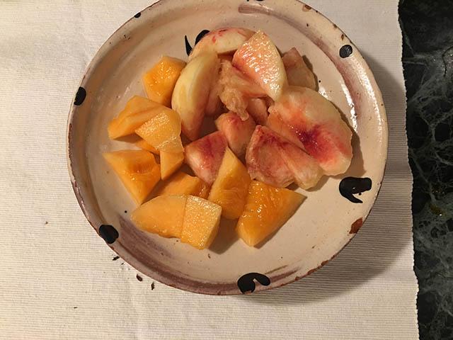 メロンと桃