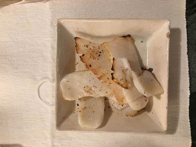 アオリイカのエンペラの醤油焼き
