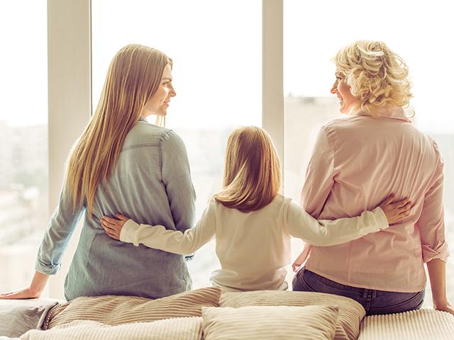 孫、娘、母の3世代
