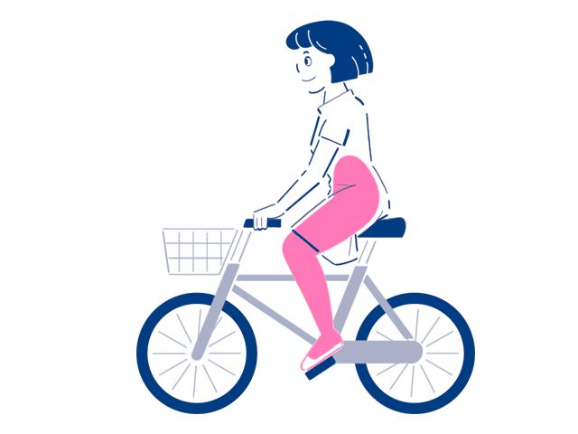 自転車のこぎ方