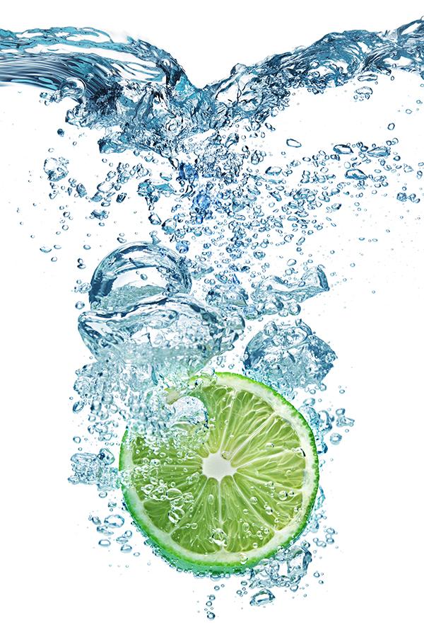 炭酸水とライム