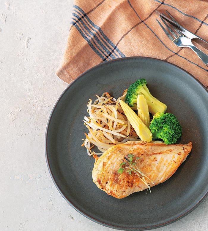 筋肉食堂の鶏むね肉のステーキ