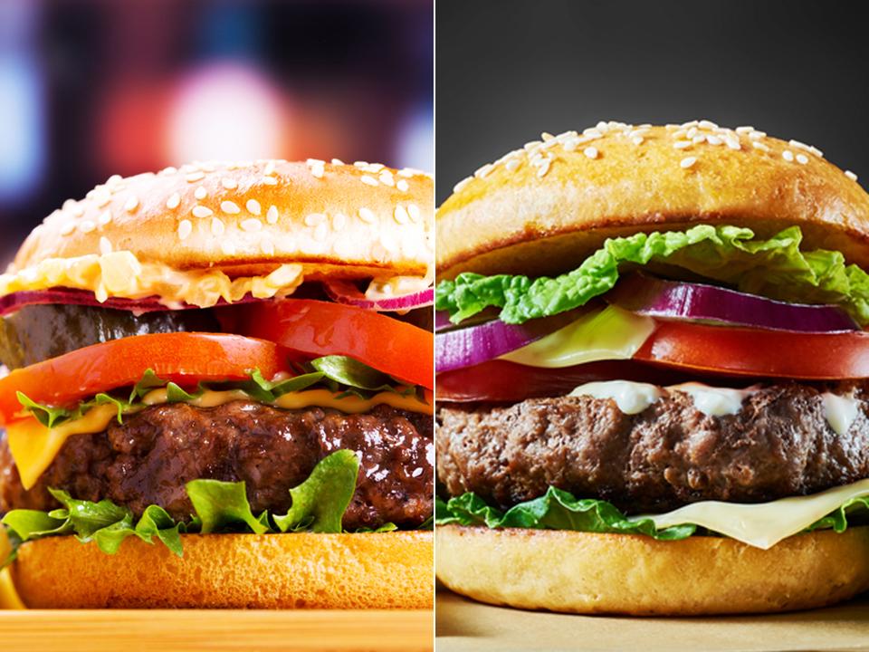 てりやきバーガーとハンバーガー