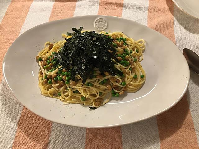 納豆スパゲッティ