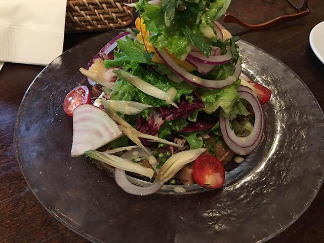 旬魚の刺身サラダ