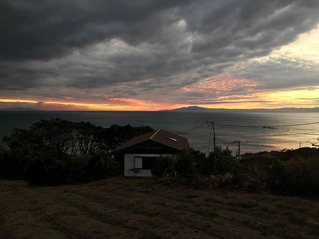 伊豆半島の夕日