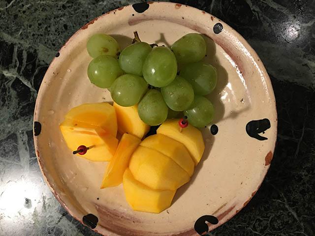 柿とぶどう