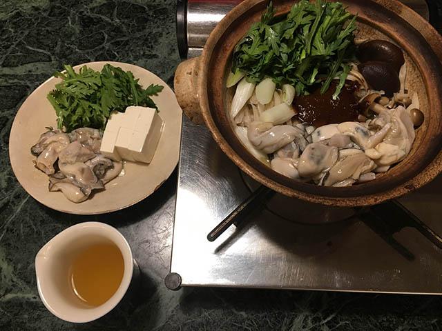 牡蠣の味噌鍋具材