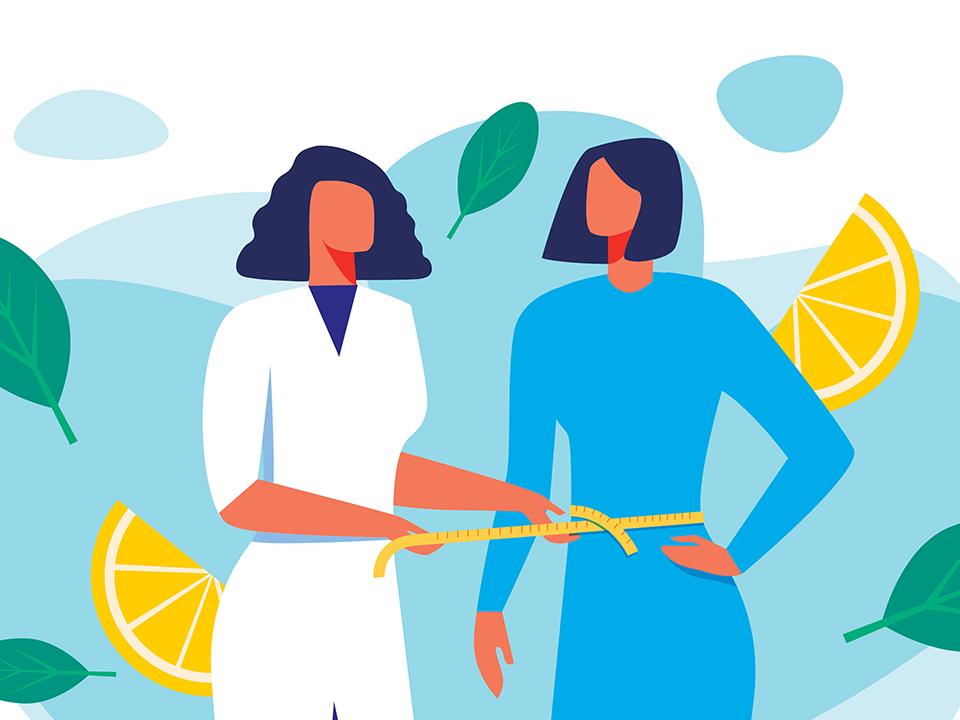 医師とダイエット中の女性
