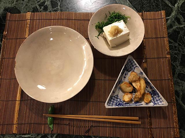 豆腐と菊芋