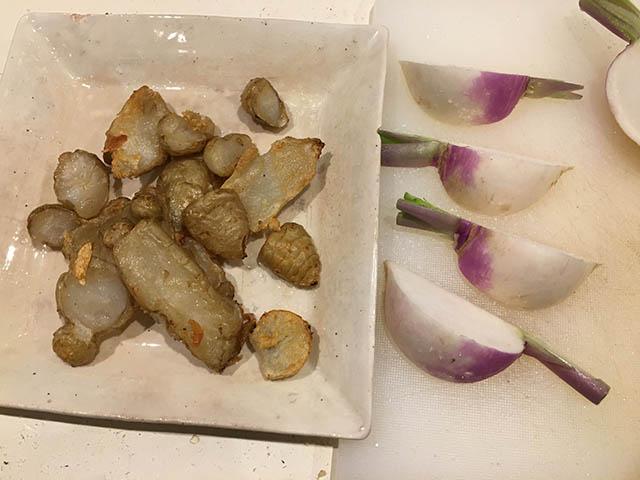 焼き菊芋、蕪