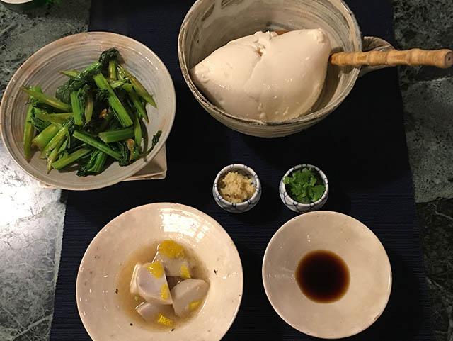豆腐とザーサイ