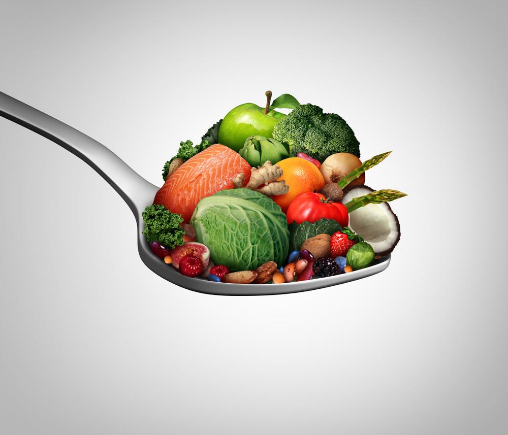 スプーンに乗った野菜