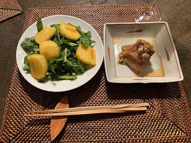 柿と豚角煮