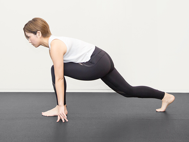 レイヤートレーニングをする女性