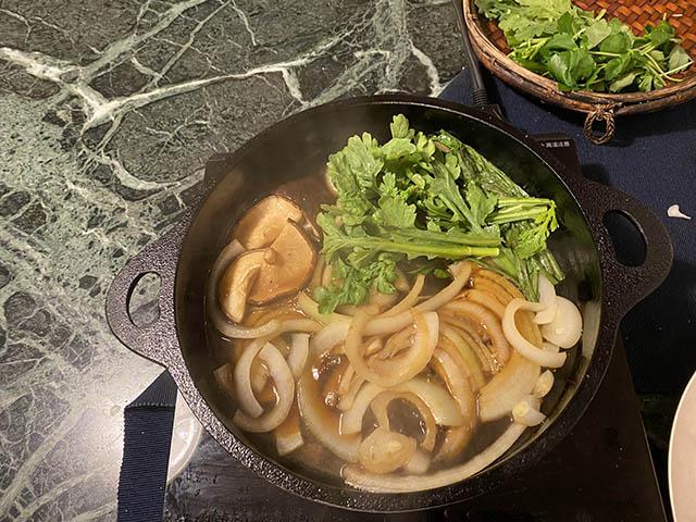 野菜類と煮る