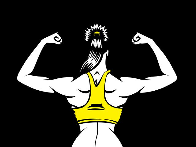 女性の美しい背筋
