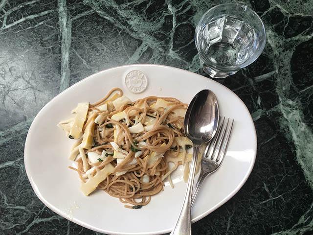 筍のスパゲティ