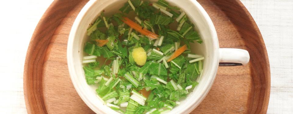 塩レモンの簡単カップスープ