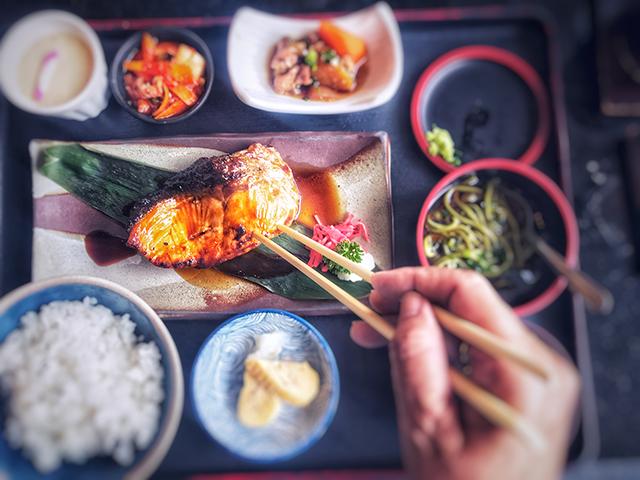 魚を主食としたバランスがいい食事