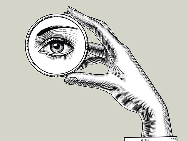 顔を写す鏡