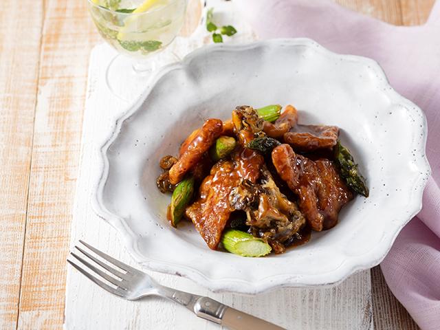 塩麹で柔らか 亜麻仁の恵み豚と野菜の甘辛生姜たれ