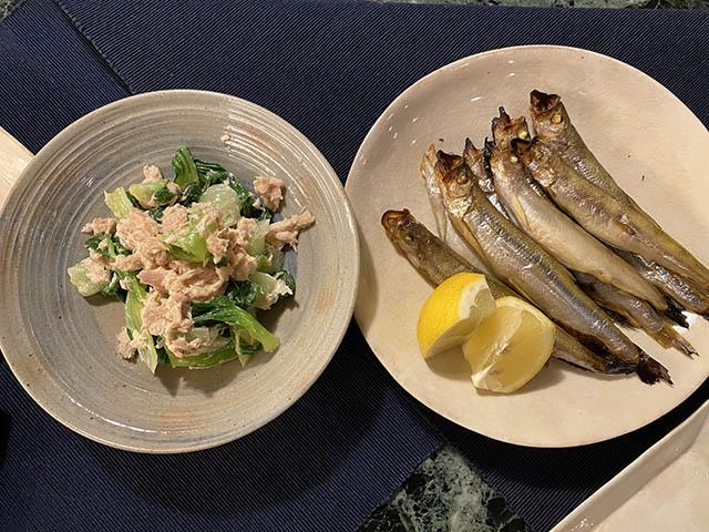 青梗菜とツナ