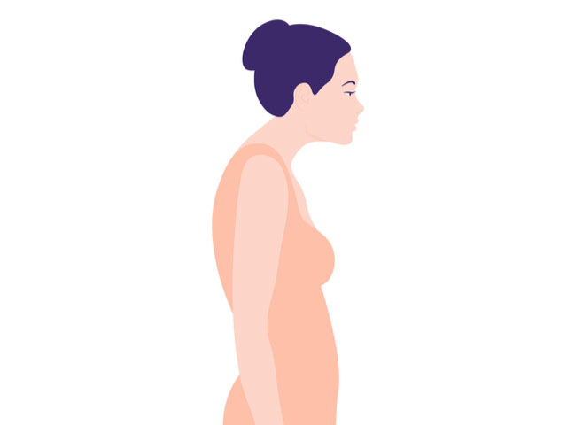 猫背の女性