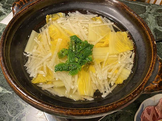白菜と大根の鍋