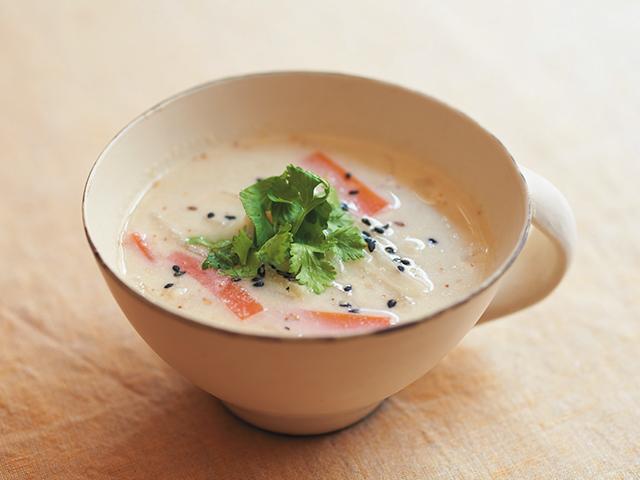 干し大根の豆乳スープ