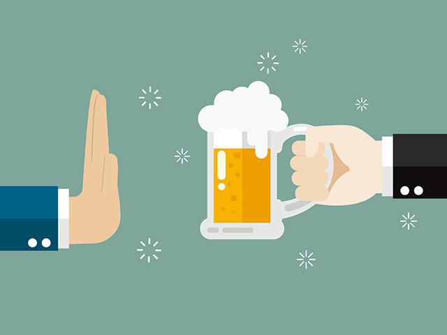 ビールを断る人