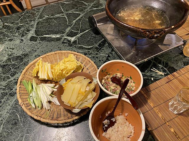 団子・白菜鍋