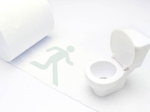 トイレに行く