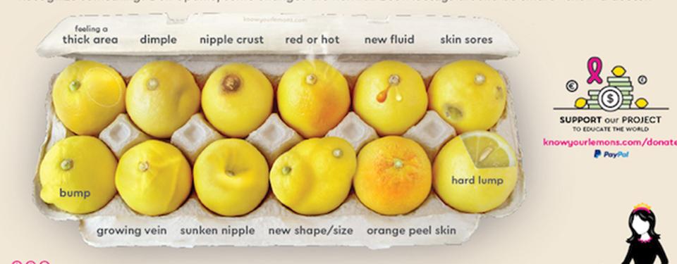 乳がんを表すレモン