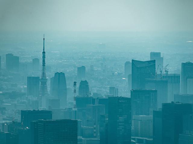 汚れた空気の東京