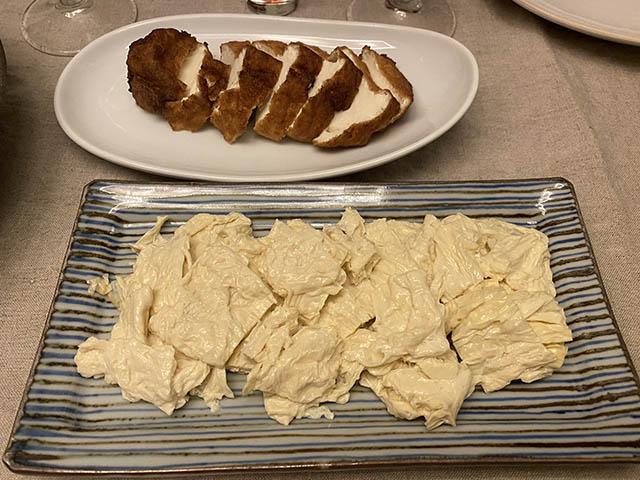 揚げ豆腐と湯葉