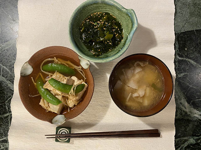 豆腐と煮物