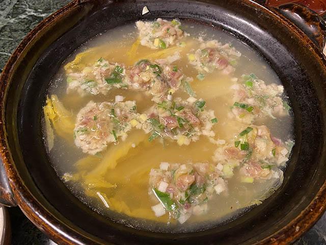 ネギトロ入り開水白菜