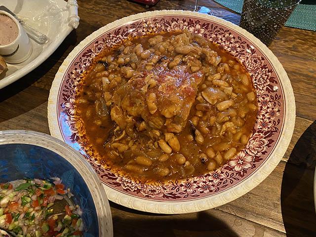 豚肉と大豆のトマト煮