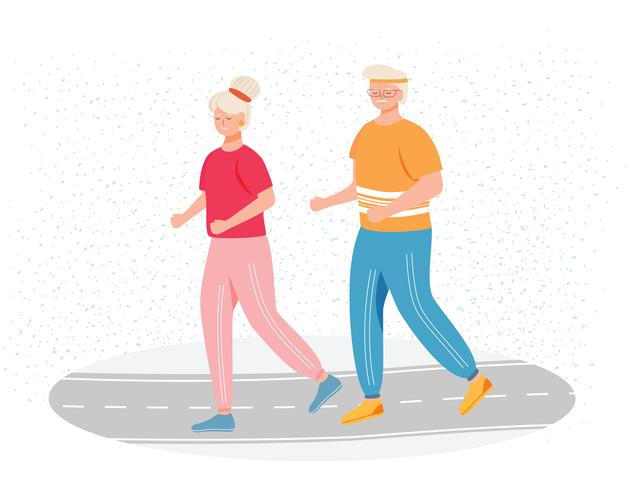 マラソンする老人