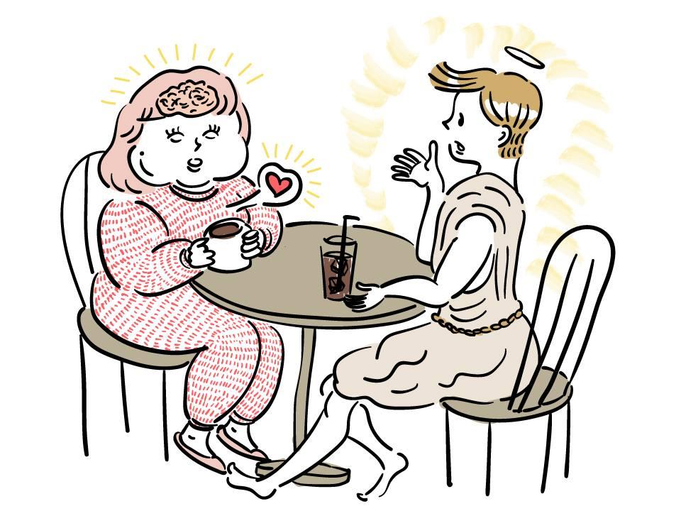 ダイエットの神とお茶をするライターP子