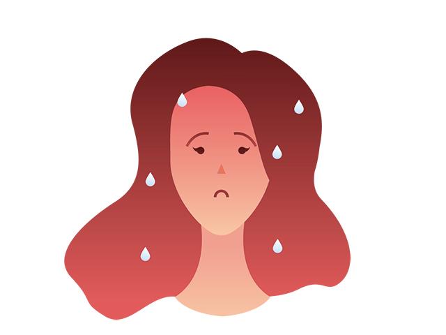 更年期障害で交感神経が優位になっている女性