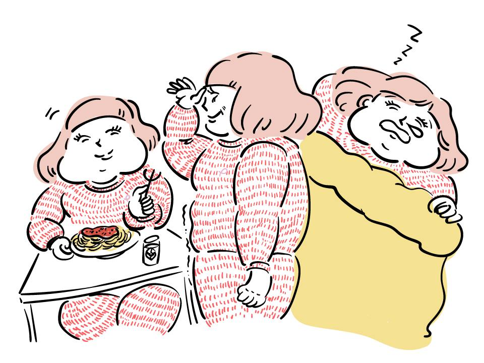 ダイエットに励むライターP子