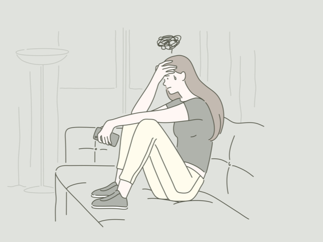 憂うつな女性