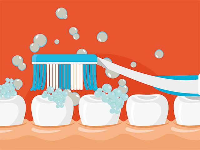 歯磨きのイラスト